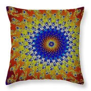Fractal Outburst Catus 1 No. 7 - Firebirdia H A Throw Pillow
