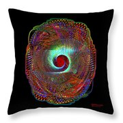Fractal Shield Throw Pillow