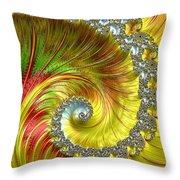 Fractal Spiral Three Throw Pillow