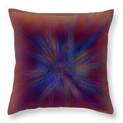 Fractal Star Throw Pillow