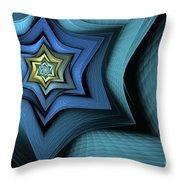 Fractal Star Throw Pillow by John Edwards