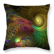 Fractal Swirls Throw Pillow