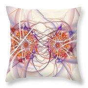 Fractal Synapse Throw Pillow