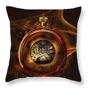 Fractal Time Throw Pillow by Richard Ricci