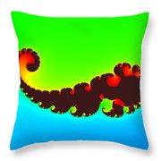 Fractal Trilobite Animal Throw Pillow