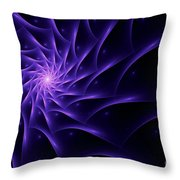 Fractal Web Throw Pillow