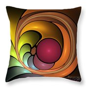 Fractal With Orange, Yellow And Red Throw Pillow
