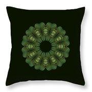 Fractal Wreath-32 Spring Green T-shirt Throw Pillow
