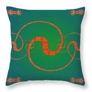Fractal Yin And Yang Throw Pillow
