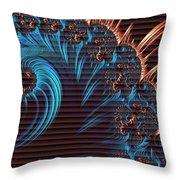 Fractala Persa H B Throw Pillow