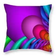 Fractalized Colors -1- Throw Pillow