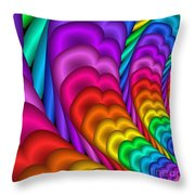 Fractalized Colors -10- Throw Pillow by Issabild -