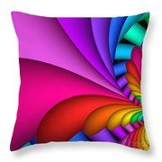 Fractalized Colors -2- Throw Pillow by Issabild -