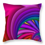 Fractalized Colors -3- Throw Pillow by Issabild -