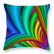 Fractalized Colors -4- Throw Pillow