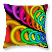 Fractalized Colors -5- Throw Pillow by Issabild -