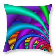 Fractalized Colors -6- Throw Pillow by Issabild -