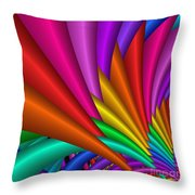 Fractalized Colors -7- Throw Pillow by Issabild -