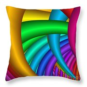 Fractalized Colors -9- Throw Pillow by Issabild -
