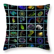 Fractals Forever Throw Pillow