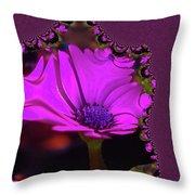 Fractual Flower  Throw Pillow