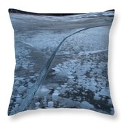 Fracture Through The Bubbles Throw Pillow