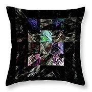 Fractured Fractals Throw Pillow