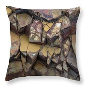 Fractured Layers Throw Pillow