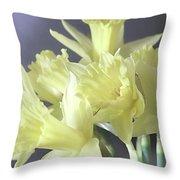 Fragile Daffodils Throw Pillow