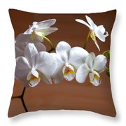 Fragile Orchid  Throw Pillow