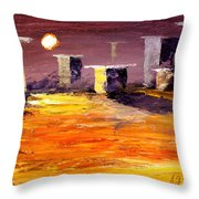 Fragile Structures Throw Pillow