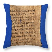 Fragment Of Hippocratic Oath, 3rd Throw Pillow