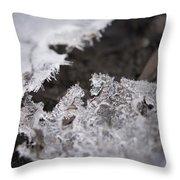 Fragmented Ice Throw Pillow