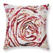Fragmented Rose Hot Pink Throw Pillow