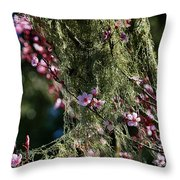 Fragrant Embrace Of Two Worlds Throw Pillow