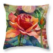 Fragrant Roses Throw Pillow
