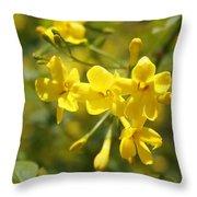 Fragrant Yellow Flowers Of Carolina Jasmine Throw Pillow