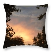 Framed Fire In The Sky Throw Pillow