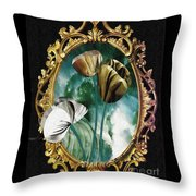 Framed Flowers Throw Pillow