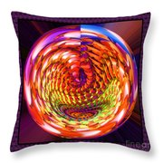 Framed Glass Spiral Throw Pillow