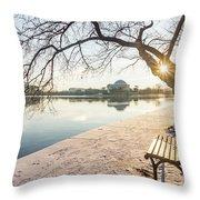 Framed Jefferson Throw Pillow