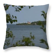Framed Lighthouse Throw Pillow