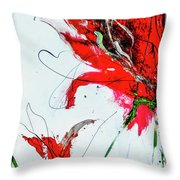 Framed Scribbles And Splatters On Canvas Wrap Throw Pillow