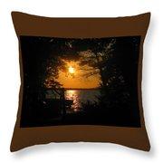 Framed Sunset Throw Pillow
