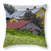 Framehouses In Finland Throw Pillow
