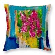 Framing Petals Throw Pillow