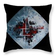 Frammenti In Rosso E Nero Throw Pillow