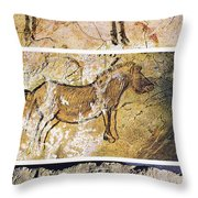 France And Spain: Cave Art Throw Pillow