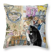 France: Brothel, 1904 Throw Pillow