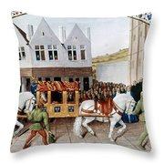 France: Charles Iv Throw Pillow